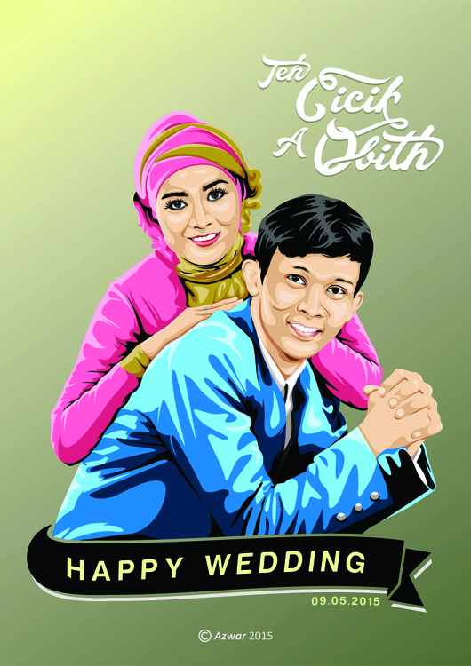 Wedding - illustration, animation - azwar-6931 | ello