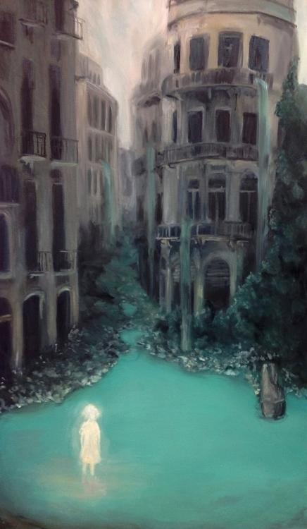 Returning forgotten place - painting - sarakdunn   ello