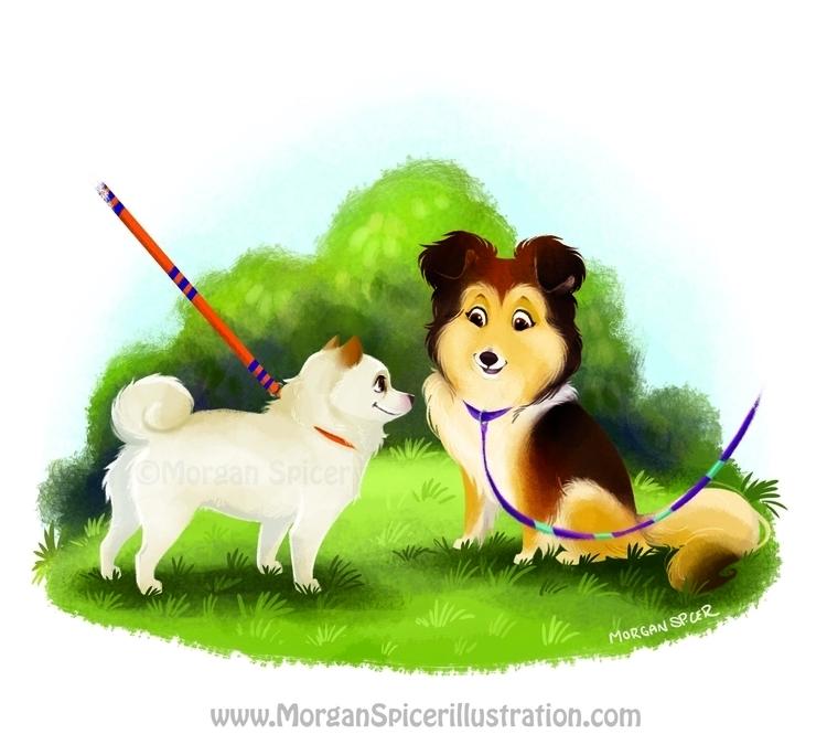 Sashi Meets Kiba - #ChildrensBook - barkpointstudio | ello