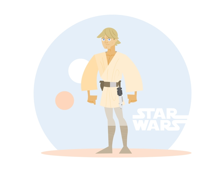 Tatooine Skywalker - starwars, illustration - dillonwheelock | ello
