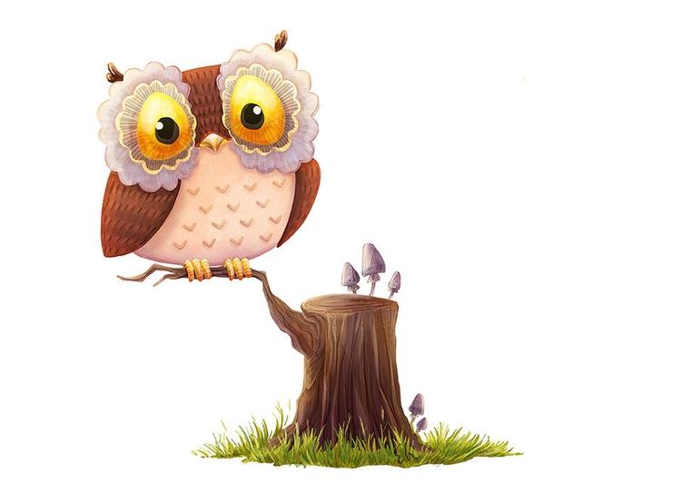 Friendly Owl - owl, illustration - candyfox | ello