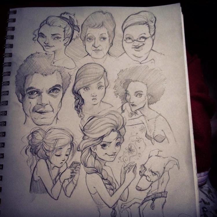 Sketches 6/2014 (Part 2 - sketches - barkpointstudio | ello