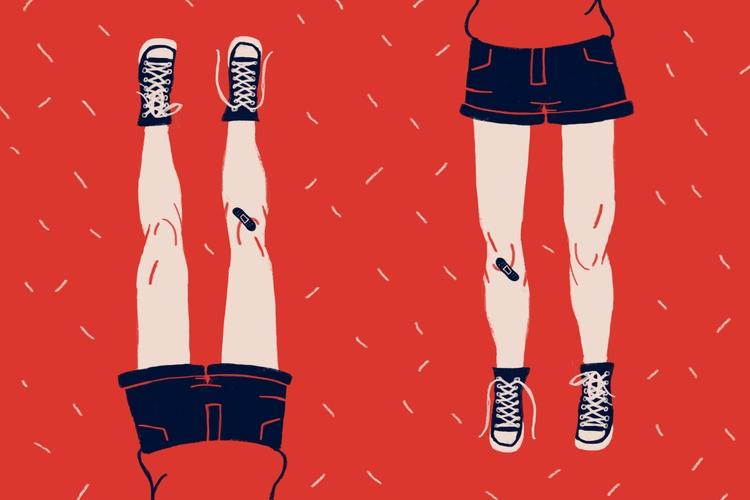 Dumps - illustration, kids, converse - katsygarcia | ello