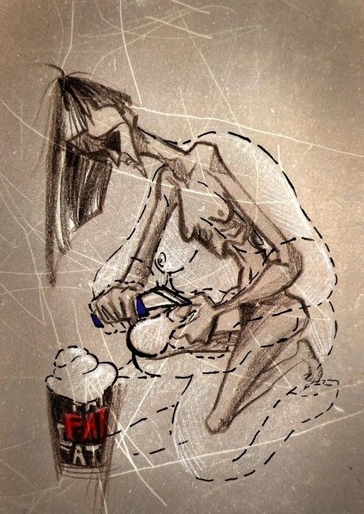 Anorexia. eating disorder chara - suesart | ello