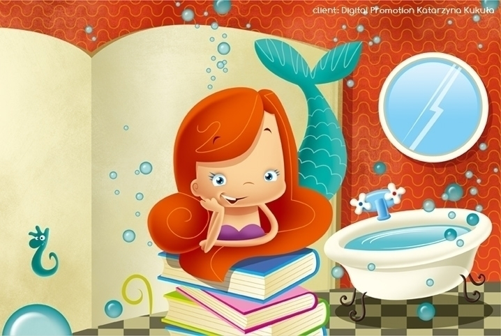 princess2 - illustration, siren - marcinpoludniak | ello