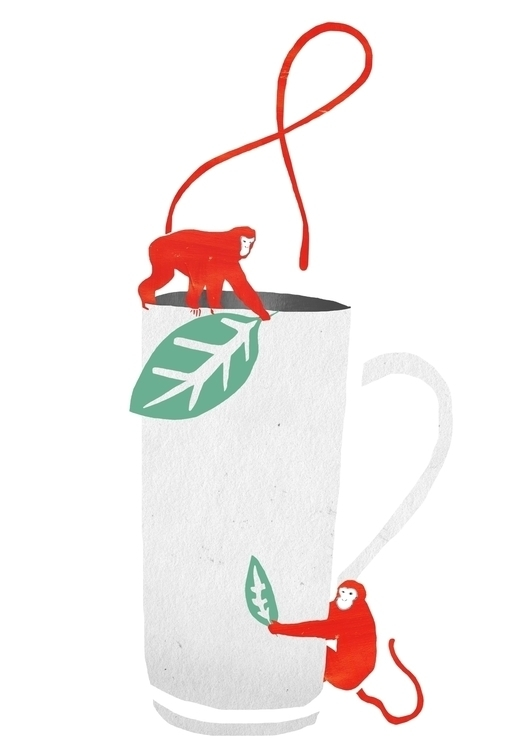 Monkey Picked Tea - illustration - lisastatham | ello