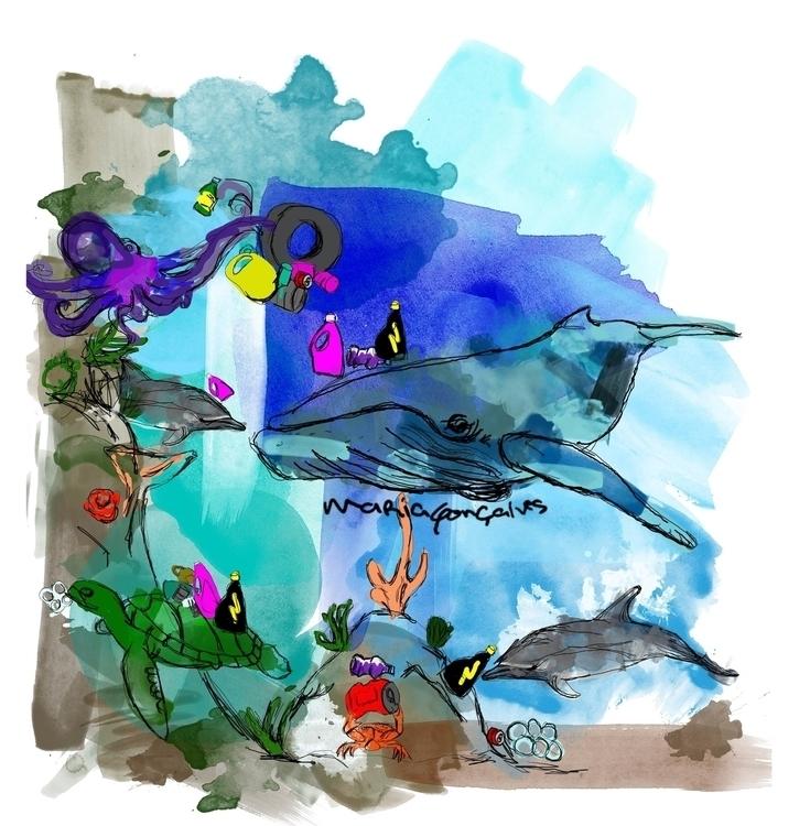 illustration, sea, blue, book - mgoncalves | ello
