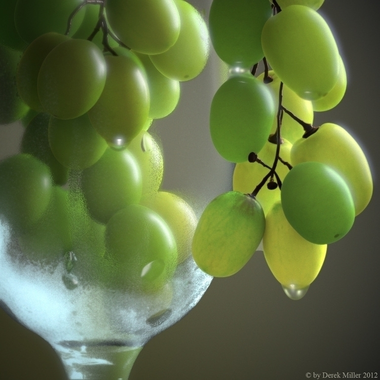 3D Rendered Grapes. created May - dmillercg | ello
