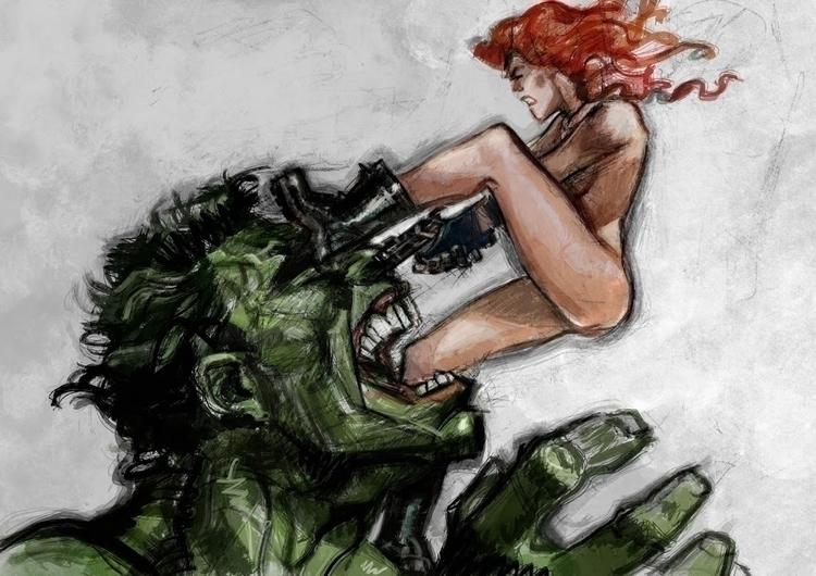 Fighting lovers - artwork Danie - danieleafferni   ello