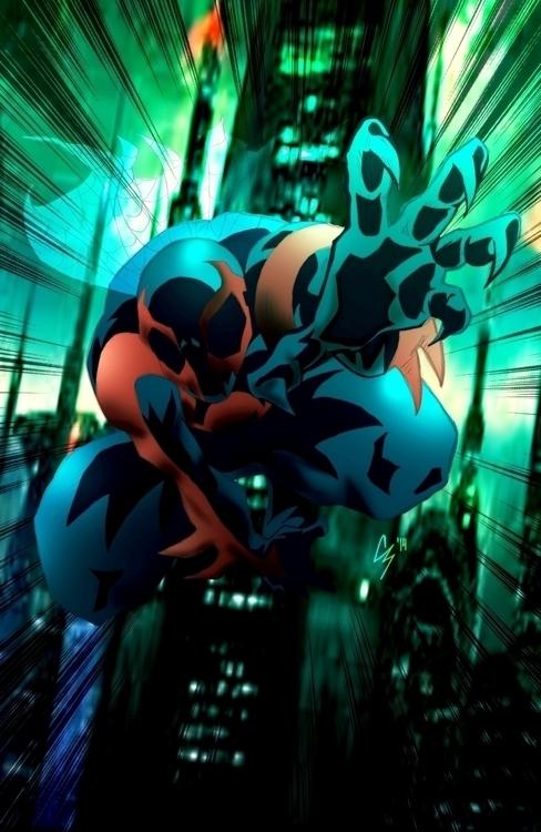 Fan art Spider-man 2099. time f - chadscott | ello