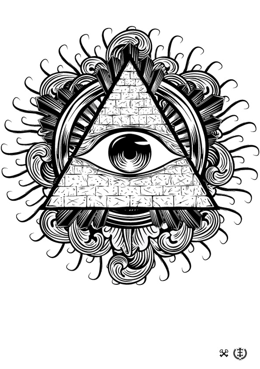 Allseeing Eye - illustration, vector - e1_since1987 | ello