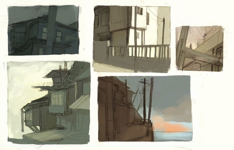 illustration, sketches, environment - thomke-9244 | ello