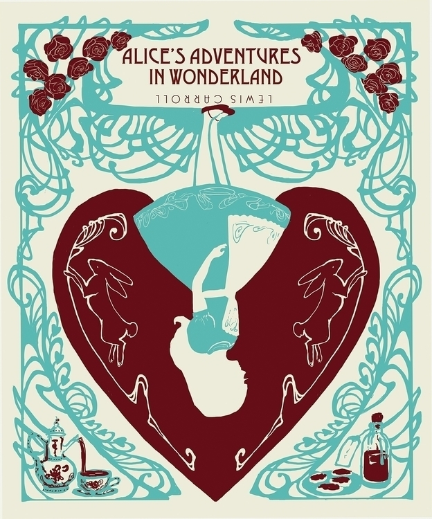 Adventures Wonderland book cove - sarakdunn | ello