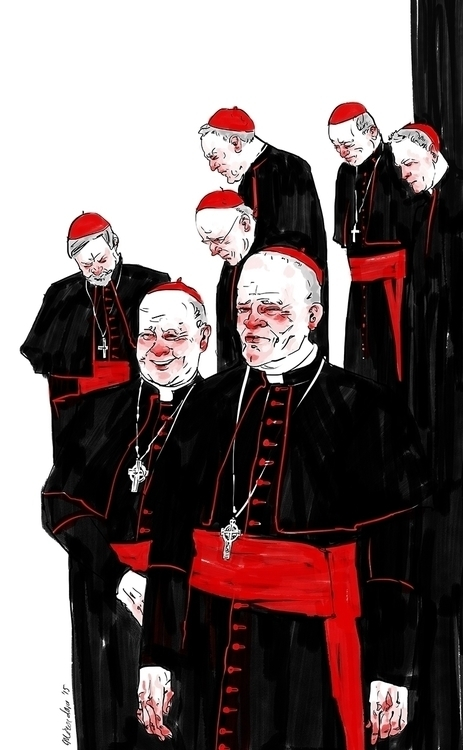 Conclave - illustration, black, red - miroedova | ello