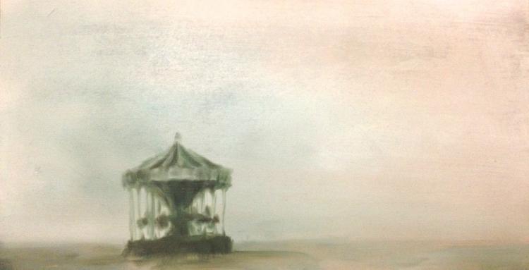 carousel - oilpainting, environmentart - sarakdunn | ello