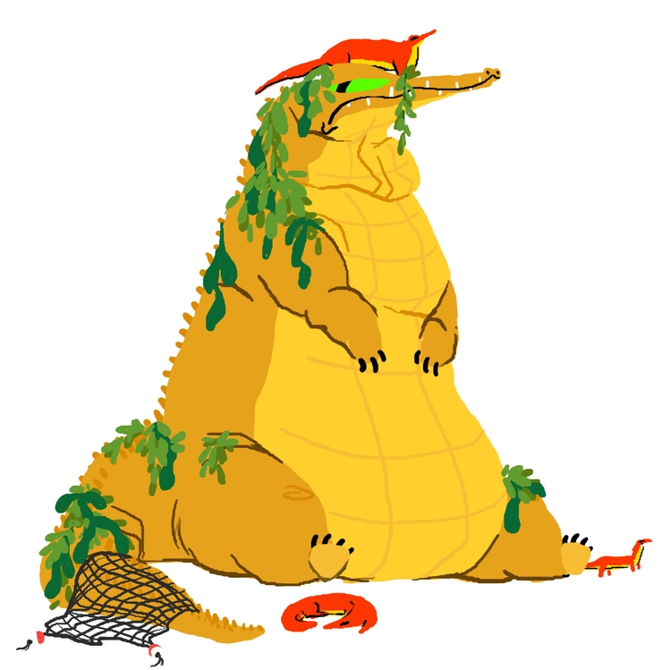 King Crocodile - crocodiles, conceptart - scookart | ello