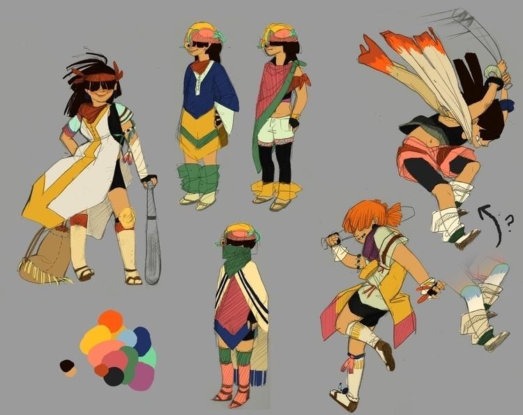 Color sketches Duck Quest - conceptart - scookart   ello