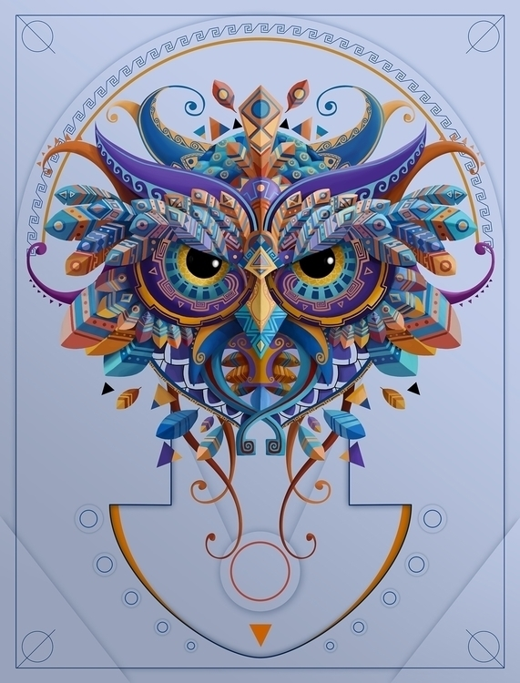 OWL - graphicdesign, illustration - juanco-1165 | ello
