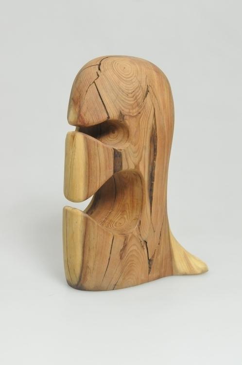 Wooden Face - wood, figurine, sculpture - smouss | ello