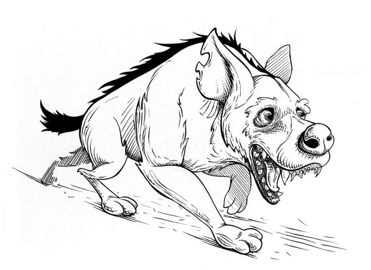 Hyena - hyena, illustration, characterdesign - kaiman-6057 | ello