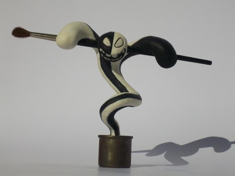 Striped painting man - figurine - smouss | ello