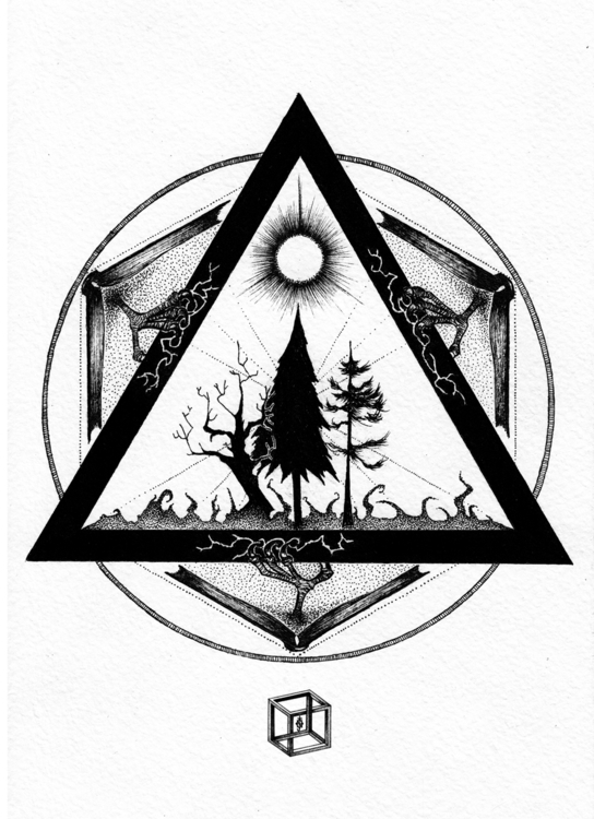 illustration, blackandwhite, black - neimenjaidde | ello