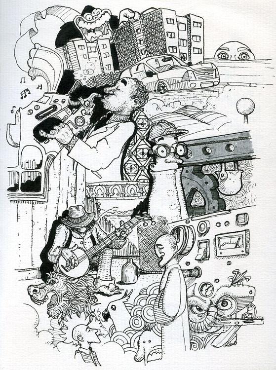 sketch, sketchbook, lineart, lineillustration - gustavo-9229 | ello