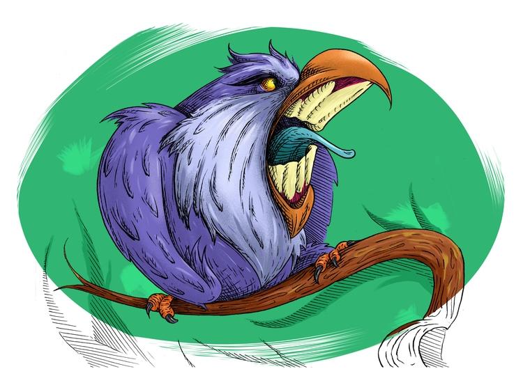 angry - illustration, drawing, characterdesign - kaiman-6057 | ello