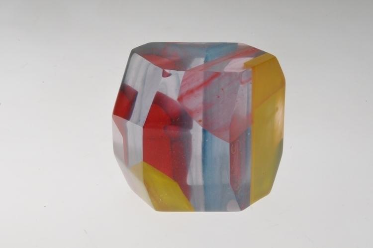 geometrical resin - colors, sculpture - smouss | ello