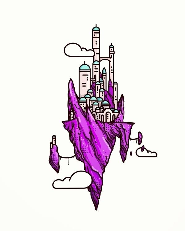 Sky Heart - illustration, animation - almigor | ello