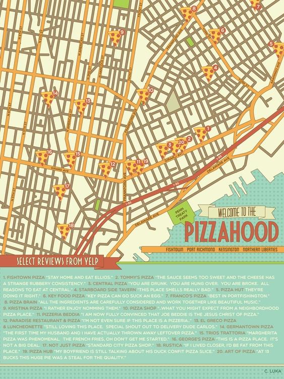 Pizza Map | Fishtown, Philadelp - christinaluka | ello