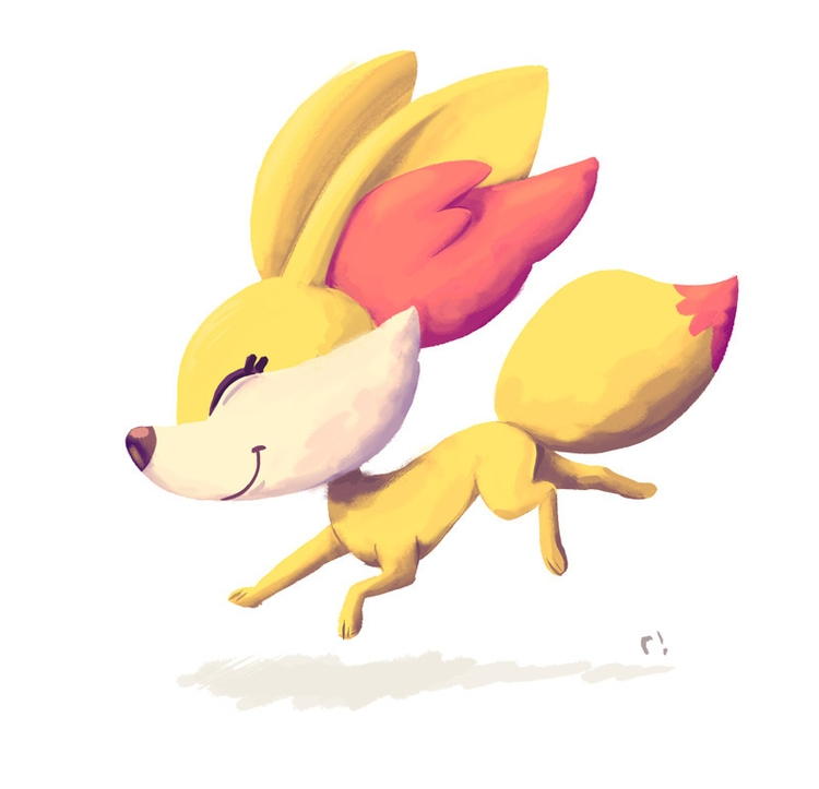 Fennekin - illustration, digitalart - ryannotbrian | ello