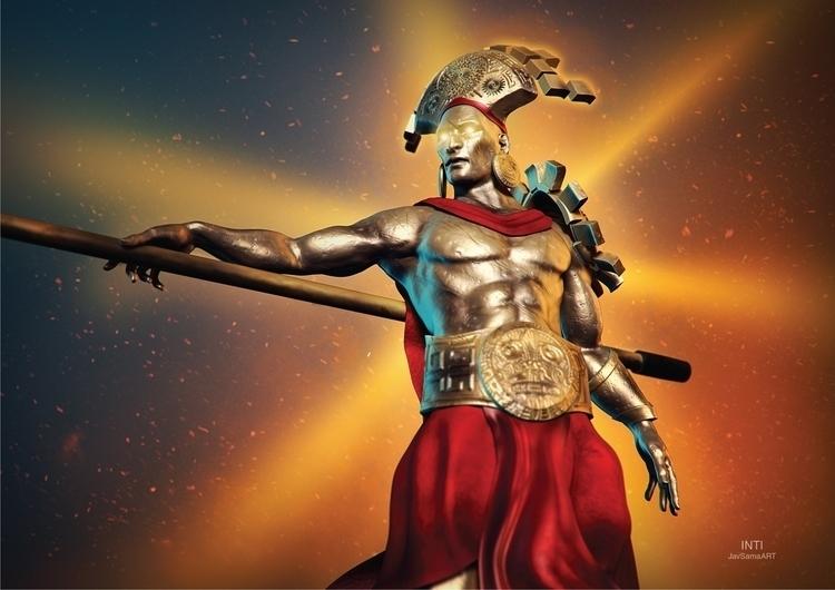 Inti, important god Incas, Sun - javsamaart | ello