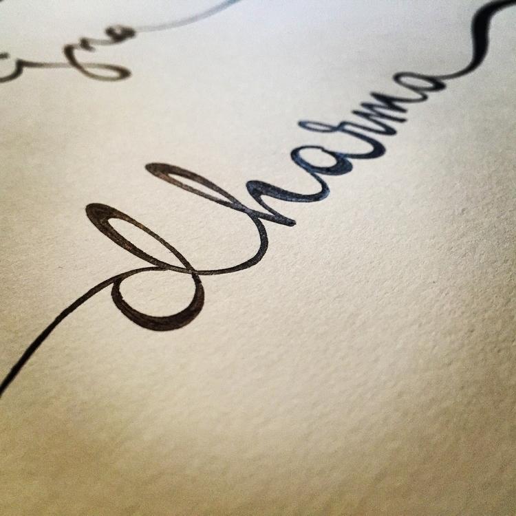 dharma - typography, lettering, illustration - lizhamilton | ello