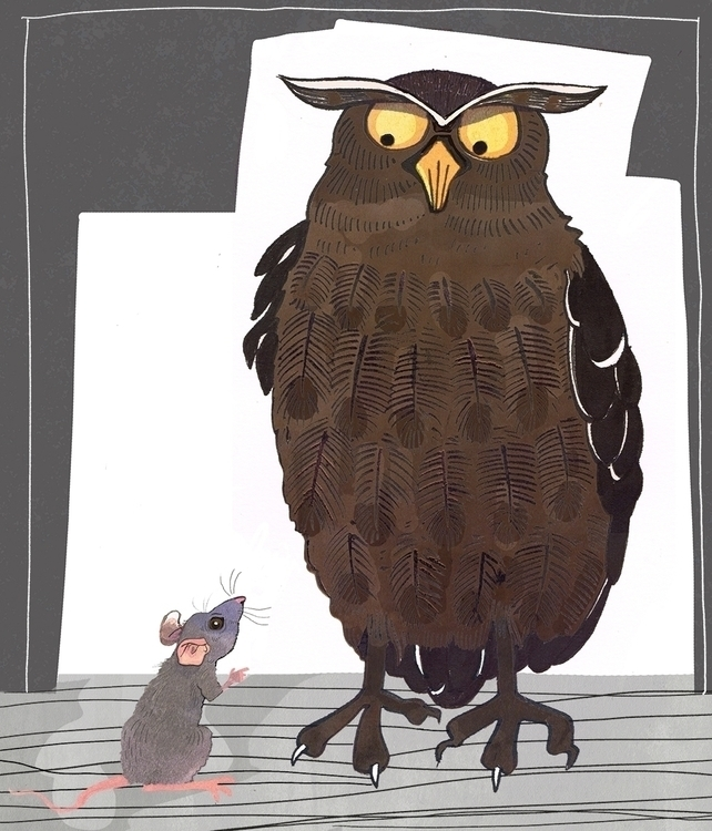 owl, illustration, illustrator - janjutte | ello