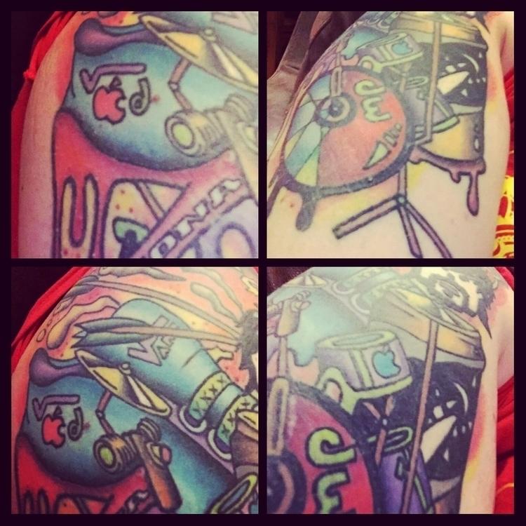 Tattoo - tattoo, drums, design, strongbow - benpoultneyart | ello