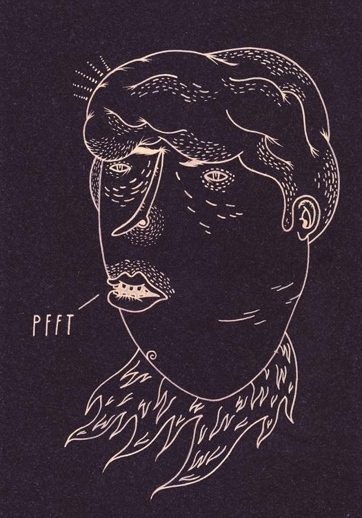 PFFT - art, artistsonnabaroo, drawing - kimbogruff | ello