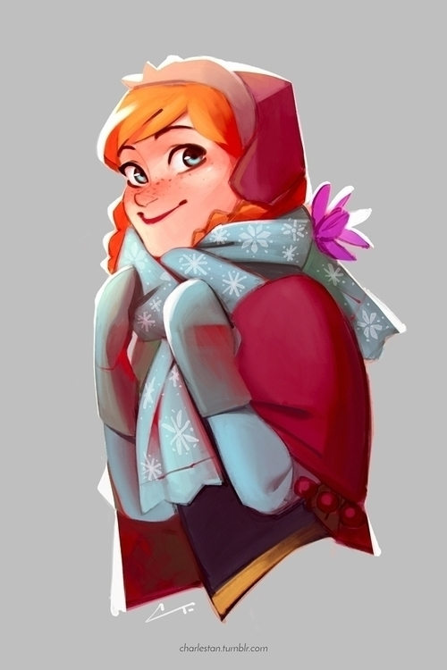 Anna cute - illustration, sketch - charlestan | ello