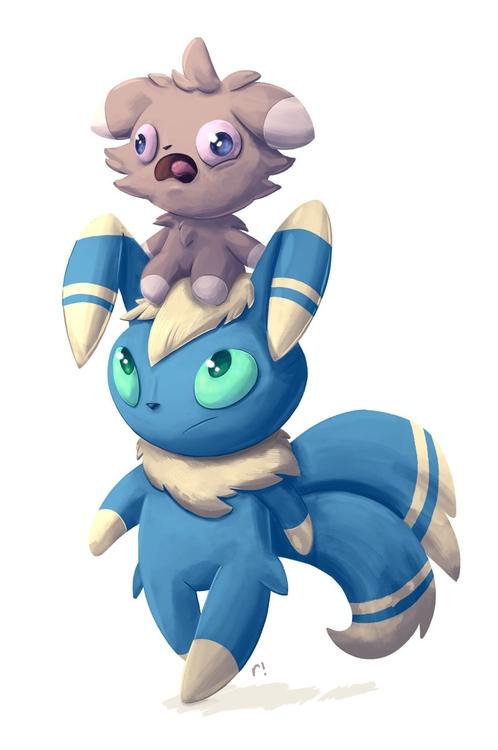 Espurr Meowstic - pokemon, illustration - ryannotbrian | ello