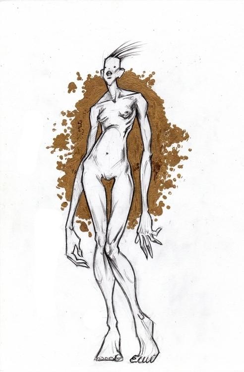 Goldy - illustration, drawing, graphic - shpadyreva | ello