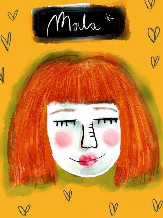 Mala* portrait/ digital drawing - mala-1184 | ello