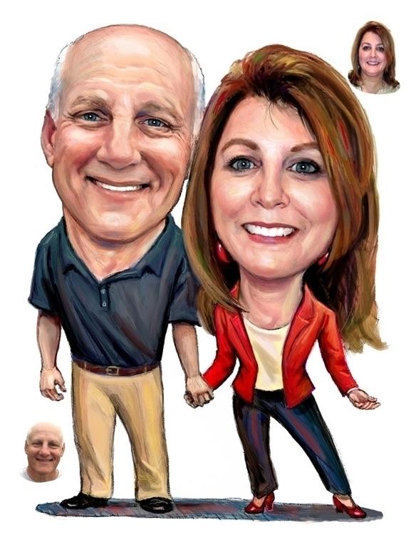 Entrepreneurial Couple - illustration - doritart | ello