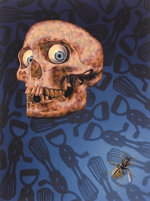 Calavera - Skull, eggwhisks, wasp - stephenhallny | ello