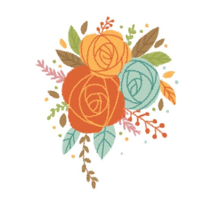 illustration, flowers, drawing - mabelalarcon | ello