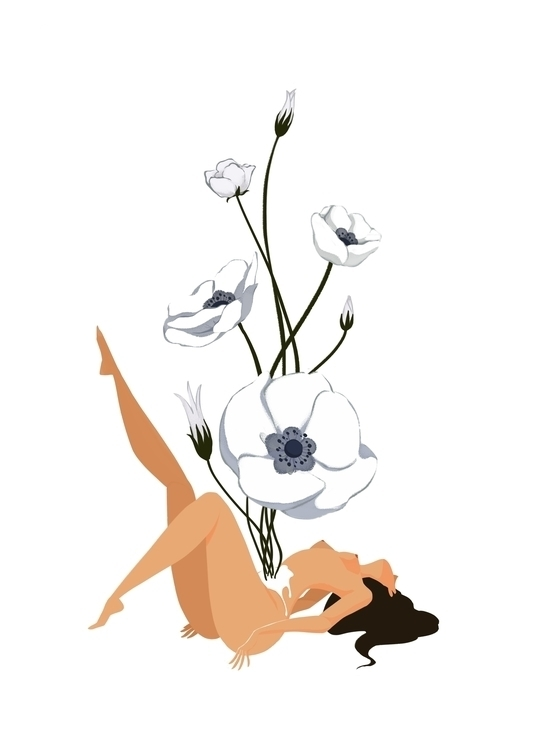 girlflower, flowers, poppy - killienhuynh | ello