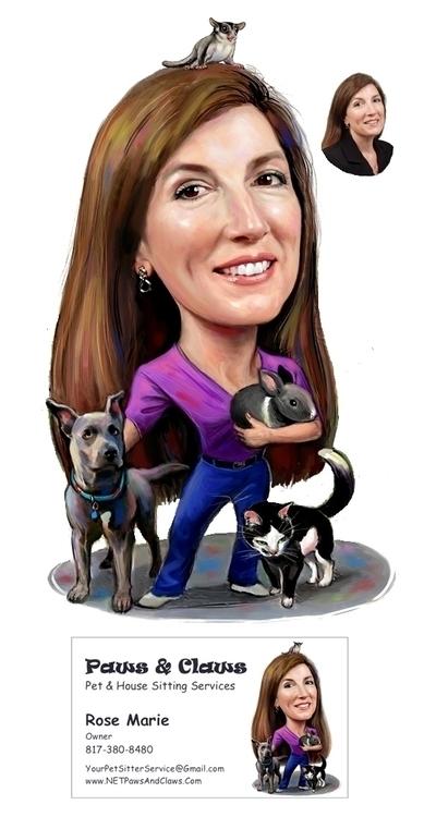 Pet Sitter - illustration, digitalart - doritart | ello
