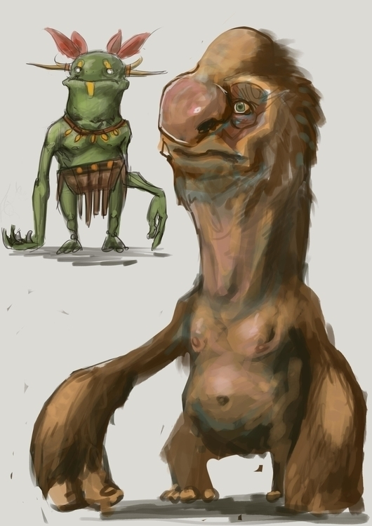 creatures, visualdevelopment - pencilpirate | ello