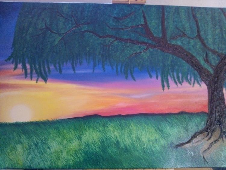painting, atardecer, cuadros - monicamorales | ello
