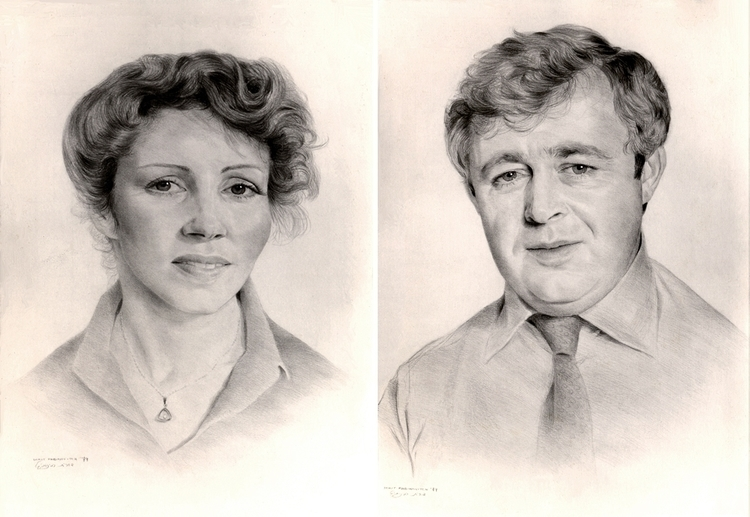 Couple - pencildrawing, portraiture - doritart | ello