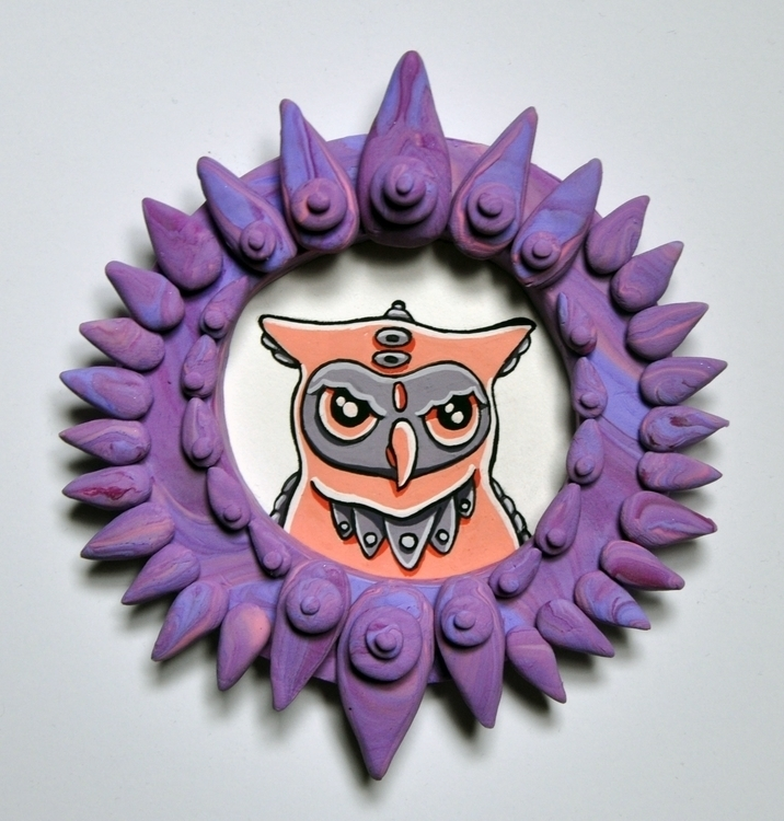 Pink owl, gouache watercolor pa - sagecotignola | ello